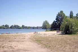 Strand an der Regattastrecke