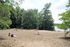 Badestrand am Sacrower See