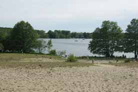 Strandbad am Campingplatz Flakensee
